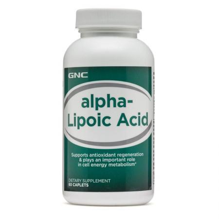 GNC Alpha-Lipoic Acid 100mg, 60 каплет