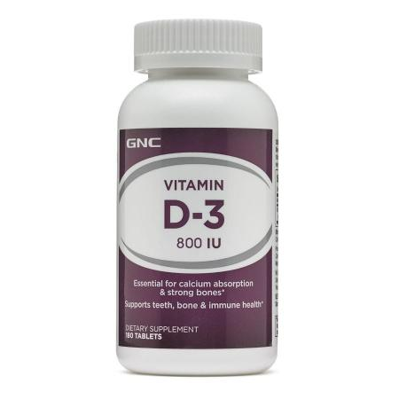 GNC Vitamin D-3 800, 180 капсул