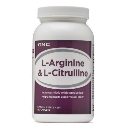 GNC L-Arginine & Citrulline, 120 капсул