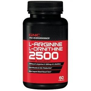 GNC L-Arginine & L-Ornithine, 60 капсул