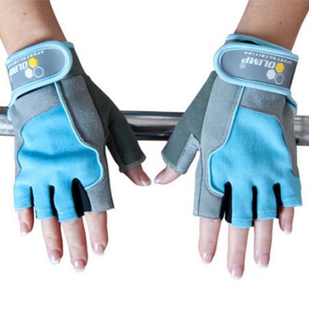 Перчатки женские Olimp Hardcore, Fitness One - голубые